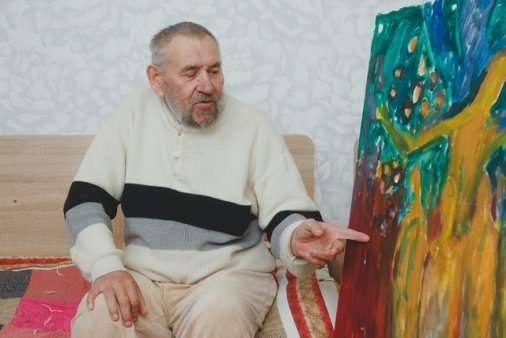 Художник, чиї роботи є в колекціях за кордоном, живе у притулку для стареньких в Аджамці