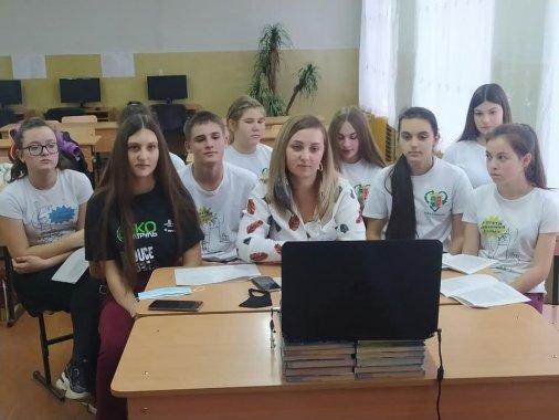 Екоактивісти Аджамки навчають школярів сіл Веселівки та Червоного Яру