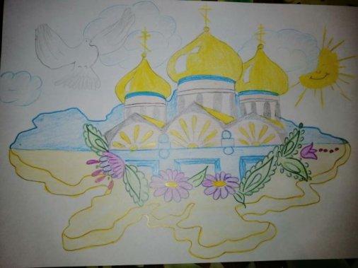 Діти Аджамки створили малюнки з нагоди Дня Соборності України
